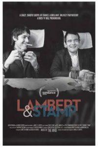 Poster for Lambert & Stamp. Chris Stamp at left and Kit Lambert on right.